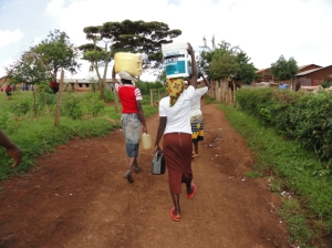 Women getting water in Kitale slum