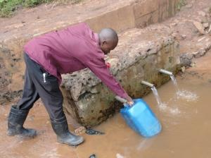 Kitale slum water