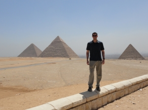 Jeremy at the pyramids