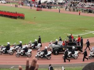 President Kibaki's motorcade