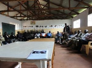 Kibera community meeting
