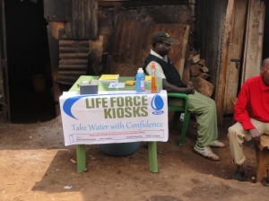 Life Force Kiosks stand